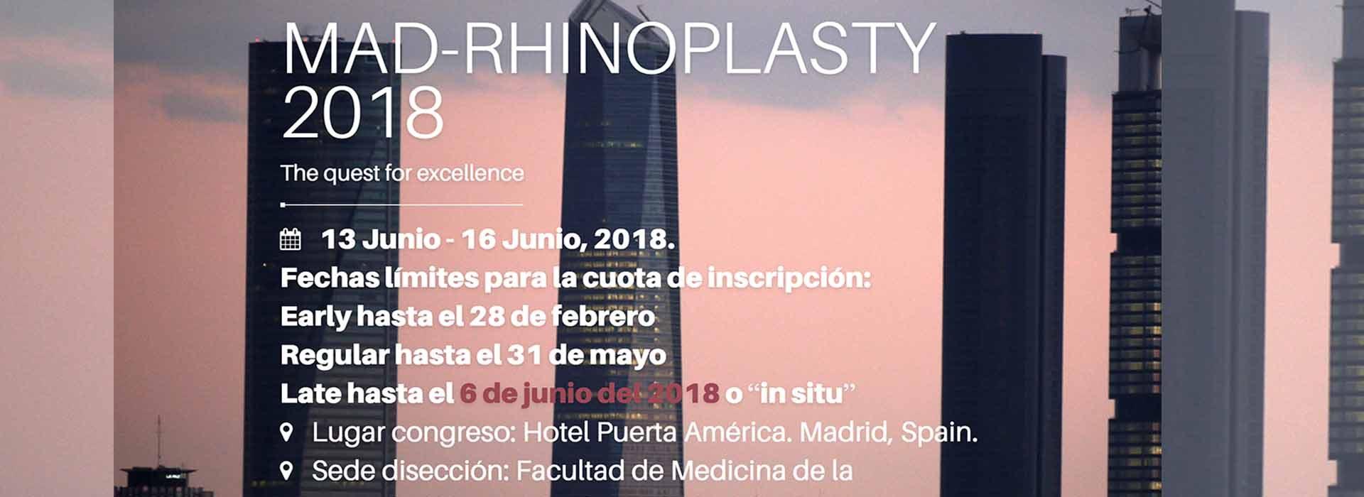 Dr. Javier Galindo dirige el congreso MAD-Rhinoplasty 2018